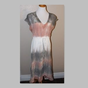 Blue Saks Fifth Avenue Small Tie Dye Cover Up